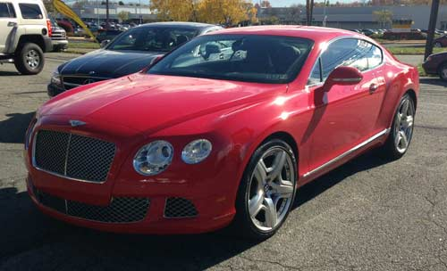 Red Bentley GTC Custom Molded 9500ci Escort Radar Installation