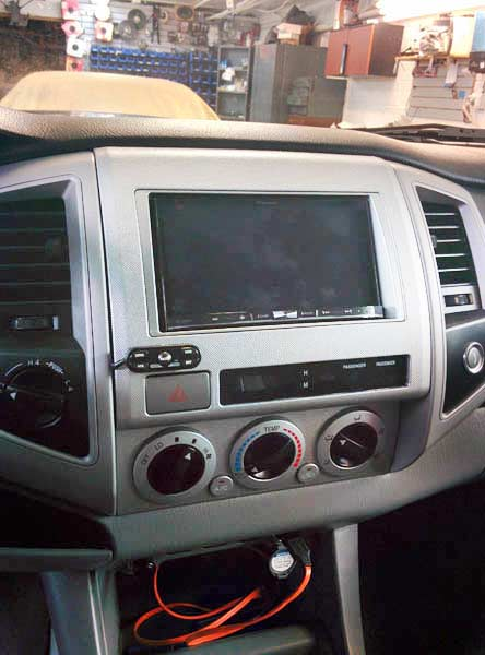 Toyota Tacoma Pioneer Avic-8000nex and escort 9500ci Radar Install