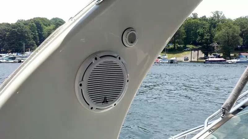Marine Install Kenwood and JL Audio