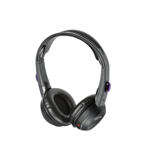 Single source fold-flat wireless headphones